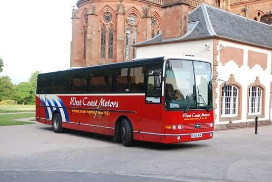red west coast motors bus