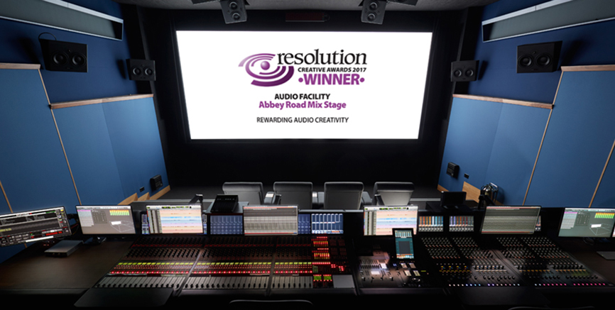 The Mix Stage named as 'Best Audio Facility 2017' by Resolution Magazine
