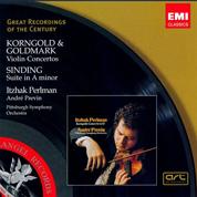 Korngold, Goldmark: Violin Concertos; Sinding: Suite in A minor - André Previn
