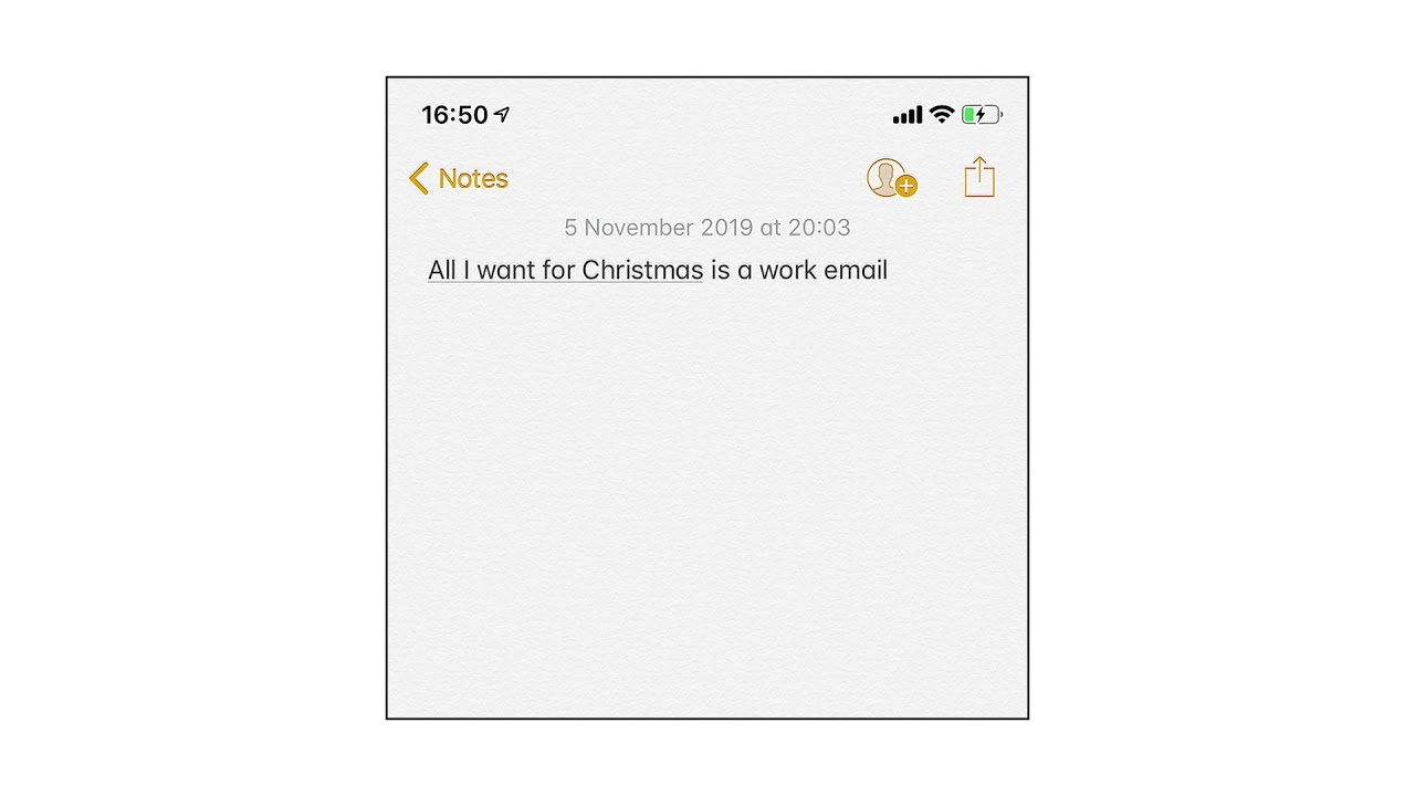 All I Want for Christmas Is A Work Email - Self Esteem