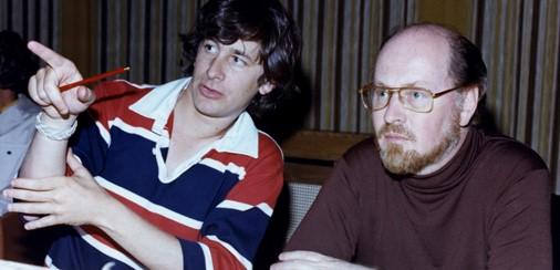 Steven Spielberg and John Williams in the studio