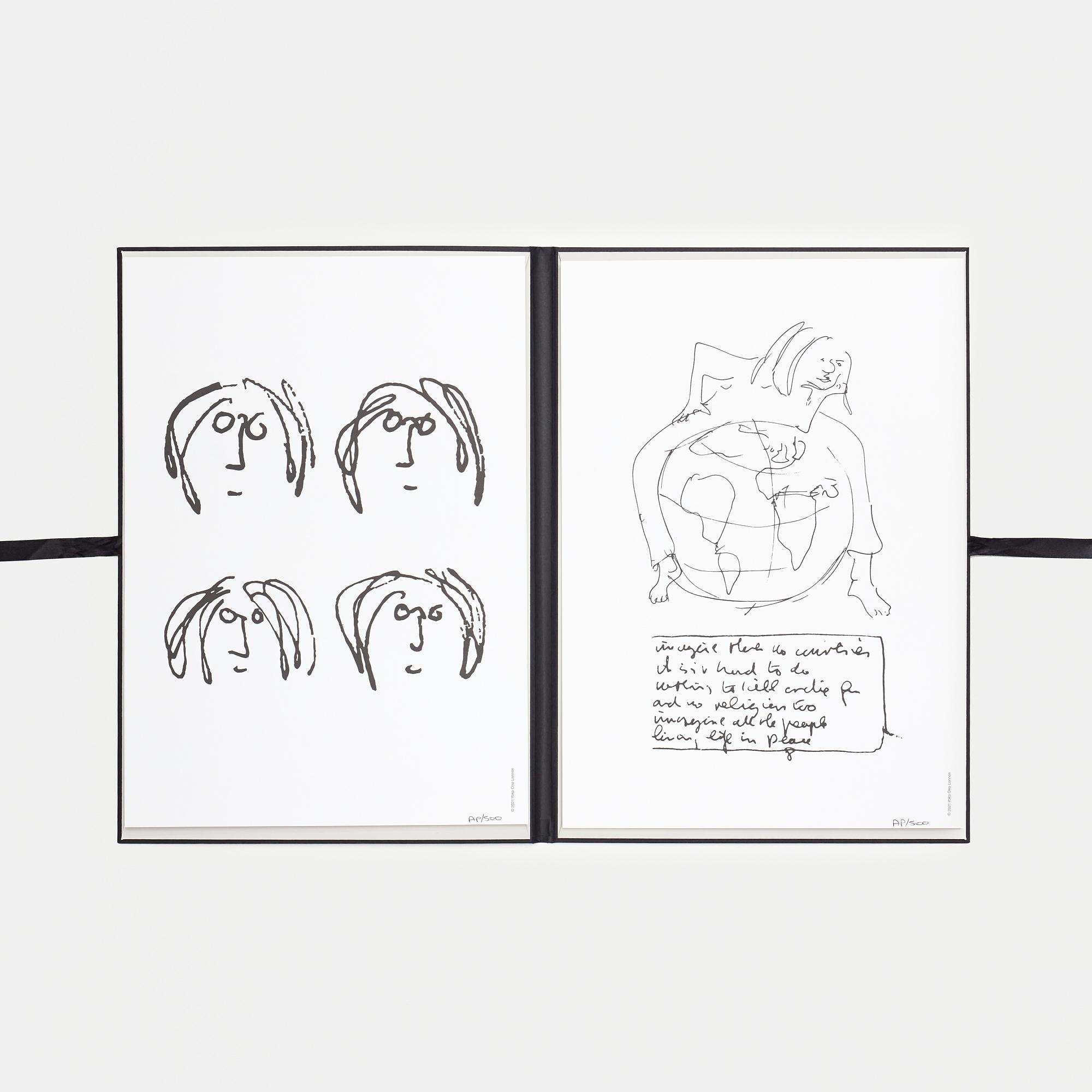 **John Lennon** ***Imagine*** Folio in collaboration with *Yoko Ono Lennon*