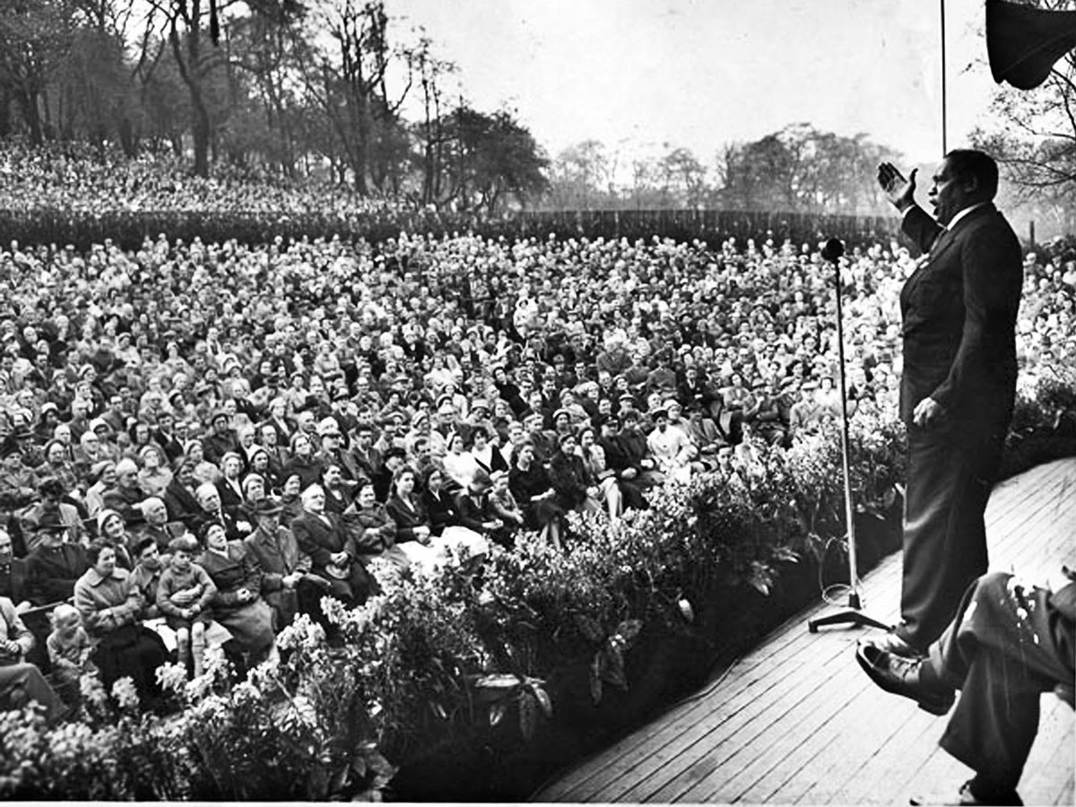 Robeson at the Glasgow Mayday, 1960