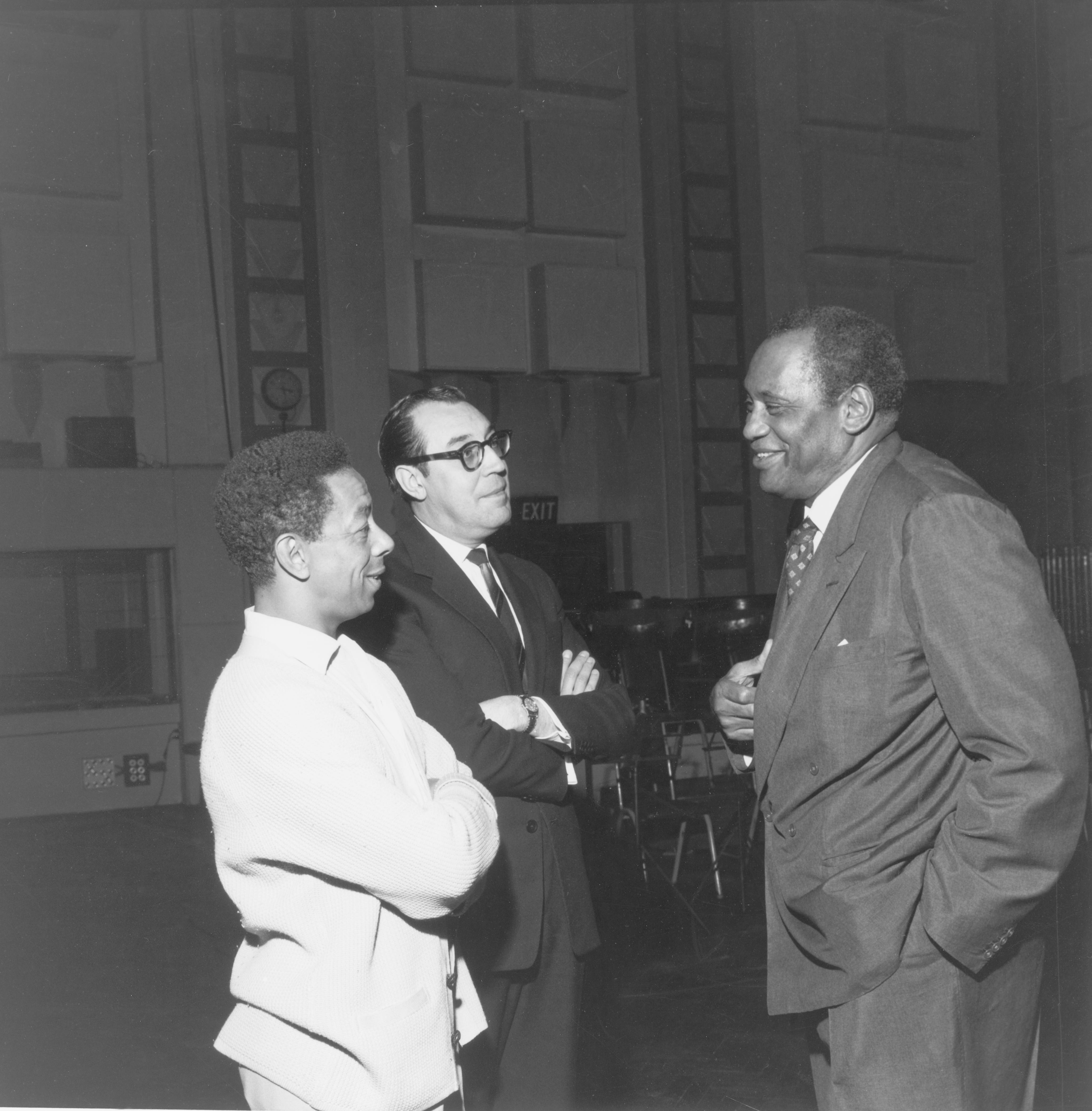 Geoff Love with Norman Newell and Paul Robeson