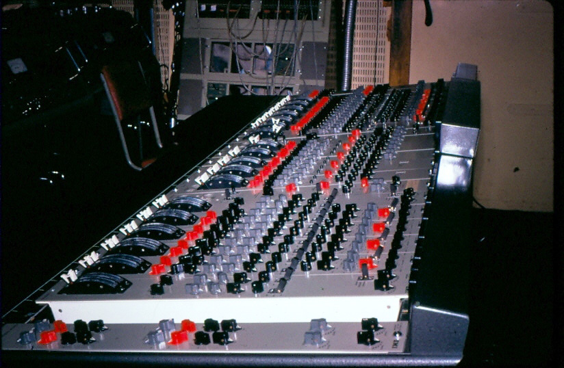 The TG console in the Abbey Road experimental room (room 65)