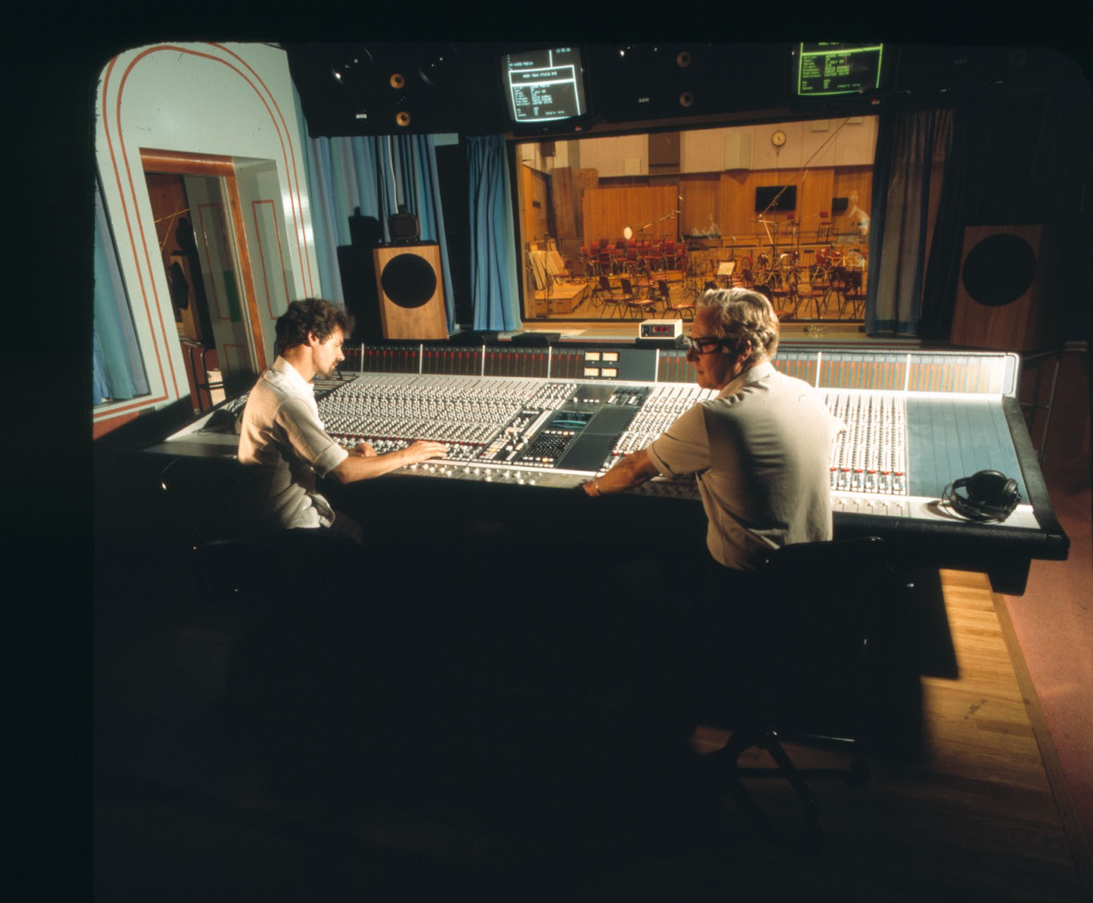 The new Studio One control room was installed with a fancy SSL mixing console