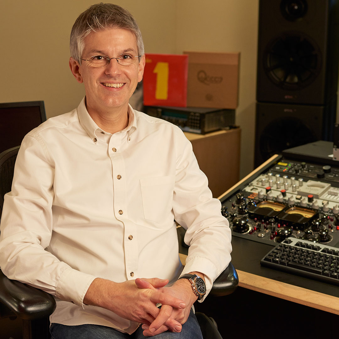 Miles Showell in one of Abbey Road's Mastering Suites