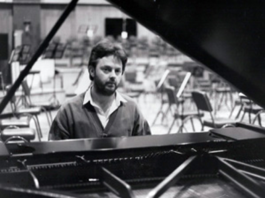 Alan Snelling at the piano in Studio One