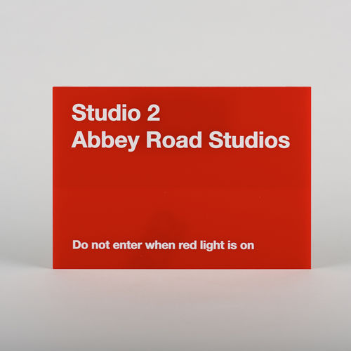 Studio Two Replica Red Perspex Sign