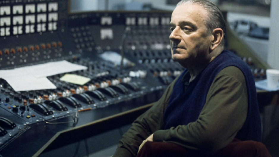 Miklos Rozsa sat in front of the TG12345 mixing console in Studio One