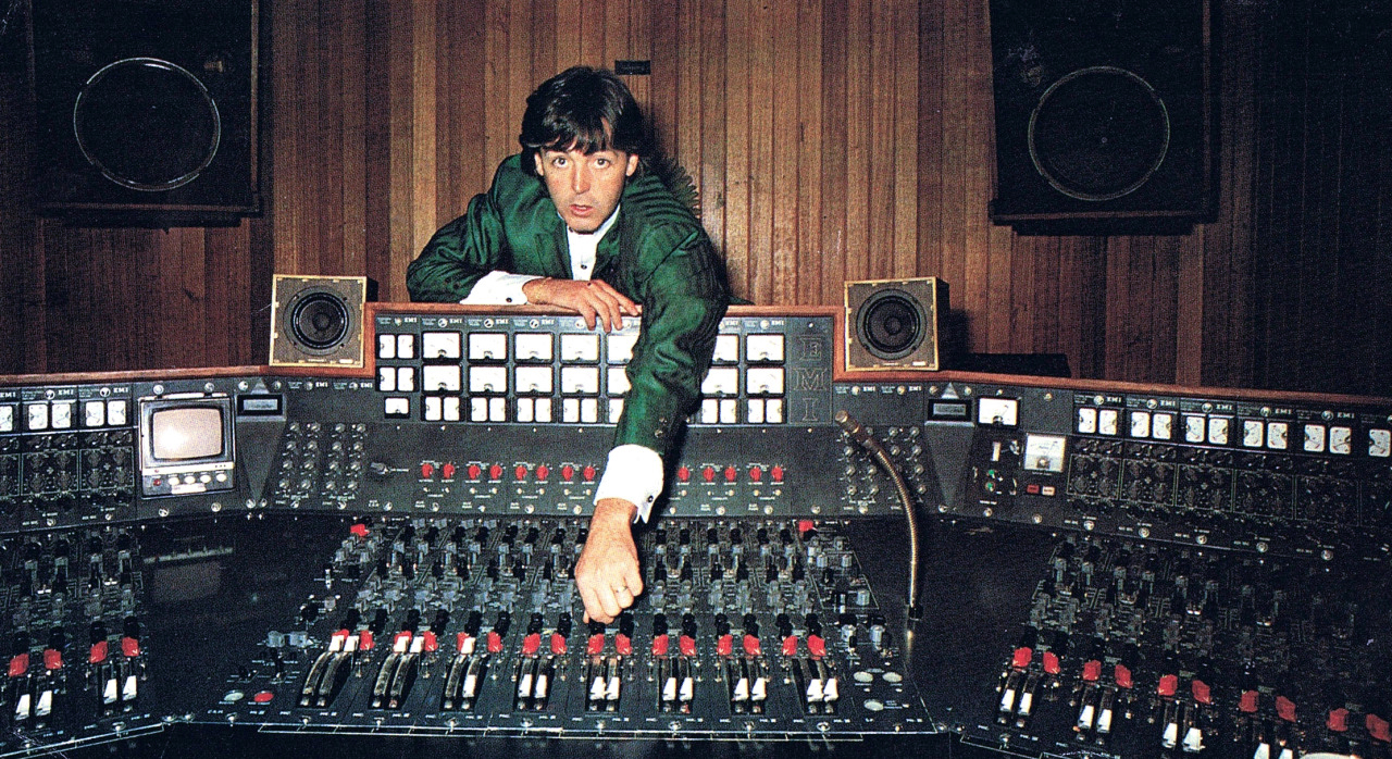 Paul McCartney with the TG 12345 Console