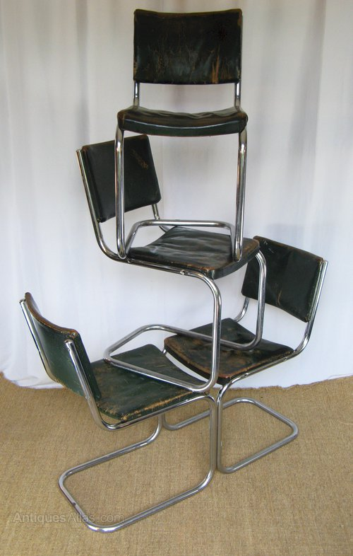 Pel Modernist Tubular Steel Dining Chairs Antiques Atlas