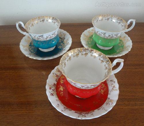 Antique Royal Albert Tea Cups Amp Saucers