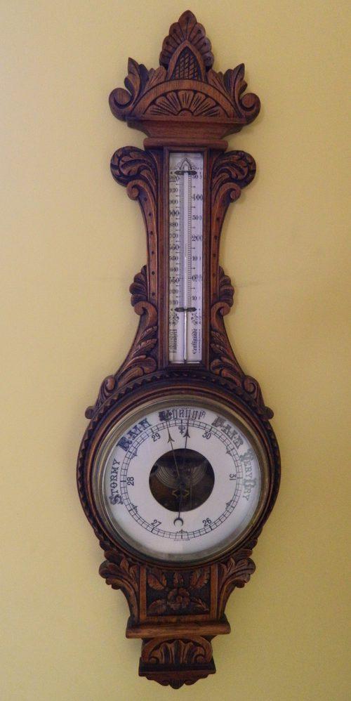 Antiques Atlas Large Carved Oak Aneroid Barometer