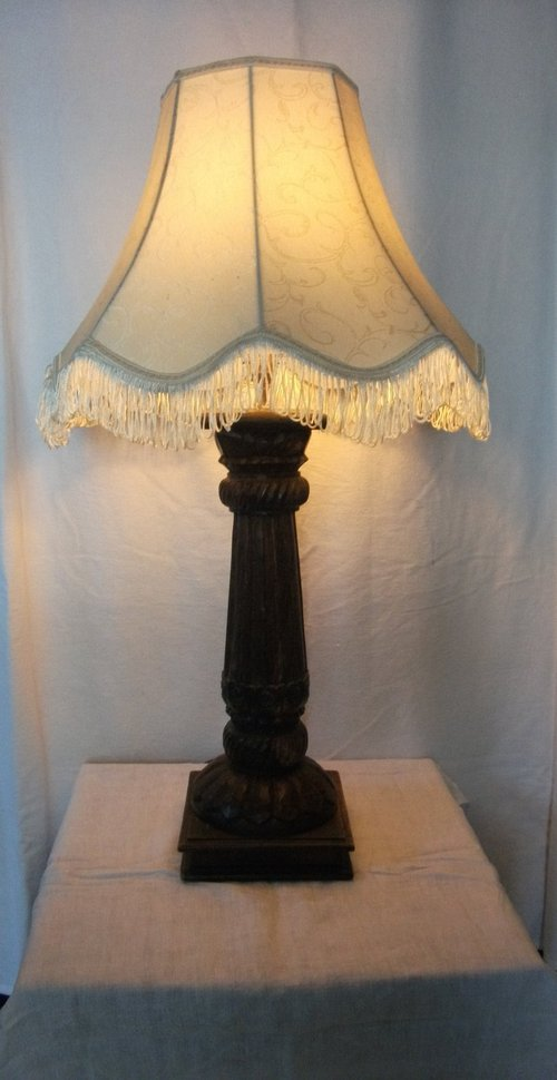 Antiques Atlas Hand Carved Wooden Table Lamp