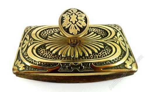 Antiques Atlas - Antique Victorian Brass Desk Ink Blotter ...