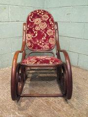 Victorian Oak Bentwood Rocking Chair C1880 Antiques Atlas