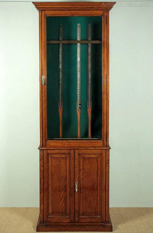 English Oak Gun Cabinet By Army Amp Navy Antiques Atlas