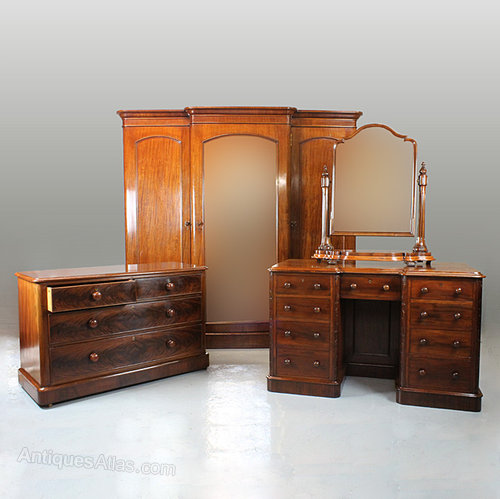 Victorian Wardrobe Dressing Table Chest Amp Mirror