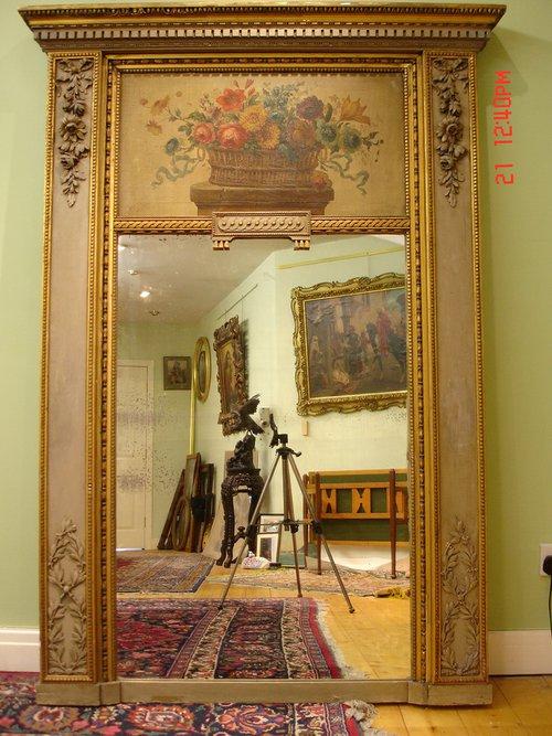 Antiques Atlas 19th C French Trumeau Mirror