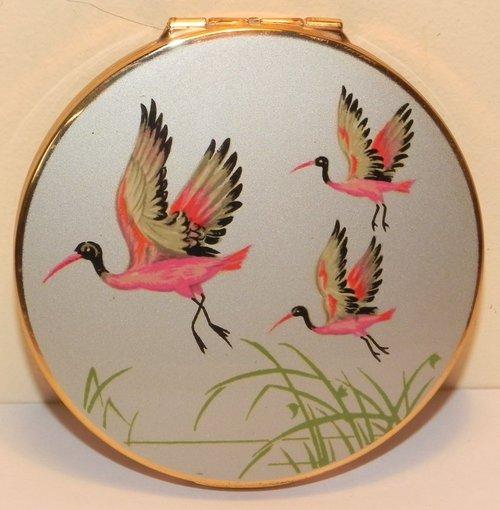 Antiques Atlas Stratton Flying Pink Crane Bird Powder