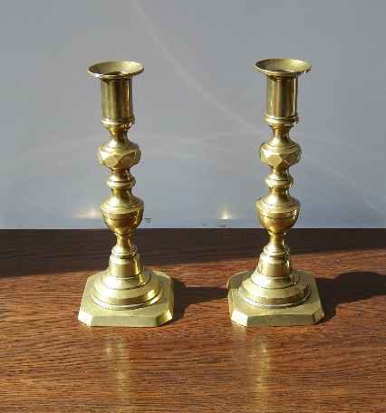 Vintage Brass Candlesticks 112