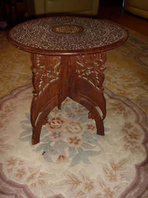 Rosewood Carved Indian Lamp Table 18 5 Ins High Antiques