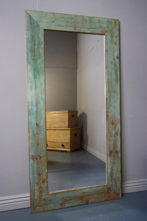 Antiques Atlas Tall 19th Century Antique Painted Pine Mirror