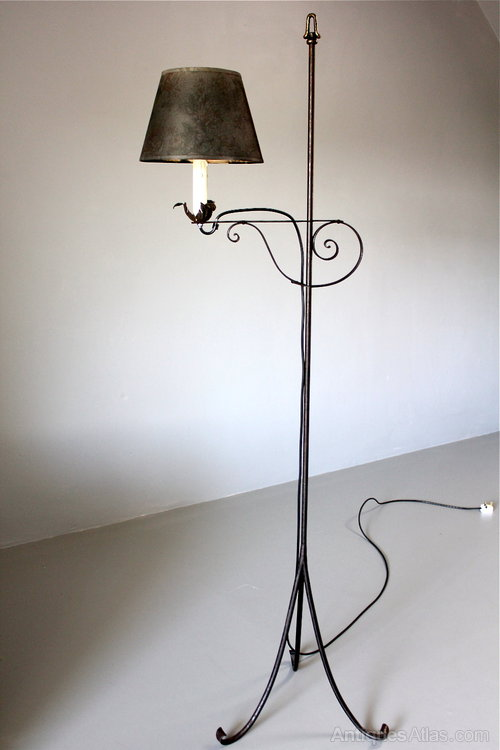 Antiques Atlas 20th Century Wrought Iron Floor Lamp