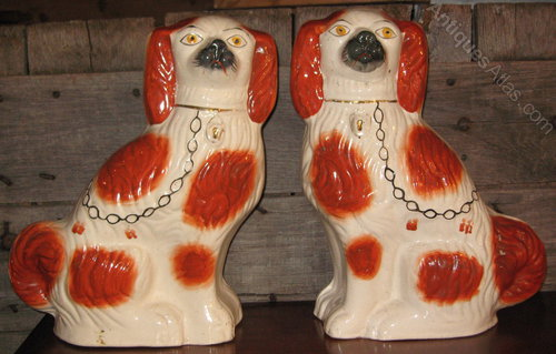Antiques Atlas Rare Pair Of Huge Staffordshire Dogs