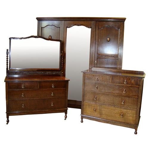 Jacobean Style Oak Bedroom Suite C 1930 S Antiques Atlas