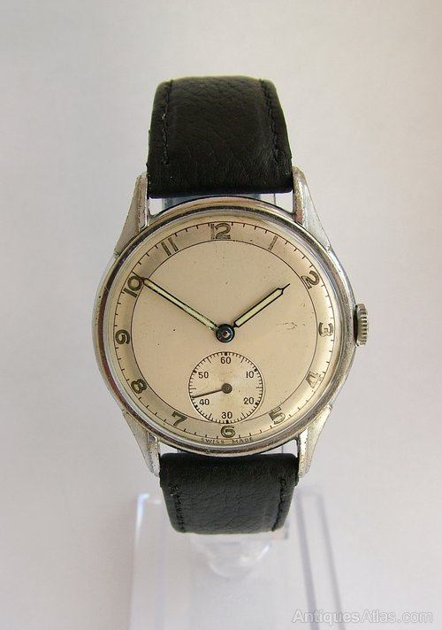 Antiques Atlas - Gents 1940s Hand Winding Wrist Watch