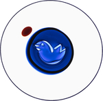 GW Bubble Bird Dish Azul
