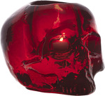 Still Life Skull Votive Rouge
