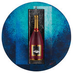 Sparkling Rouge Bouteille Wall Sculpture
