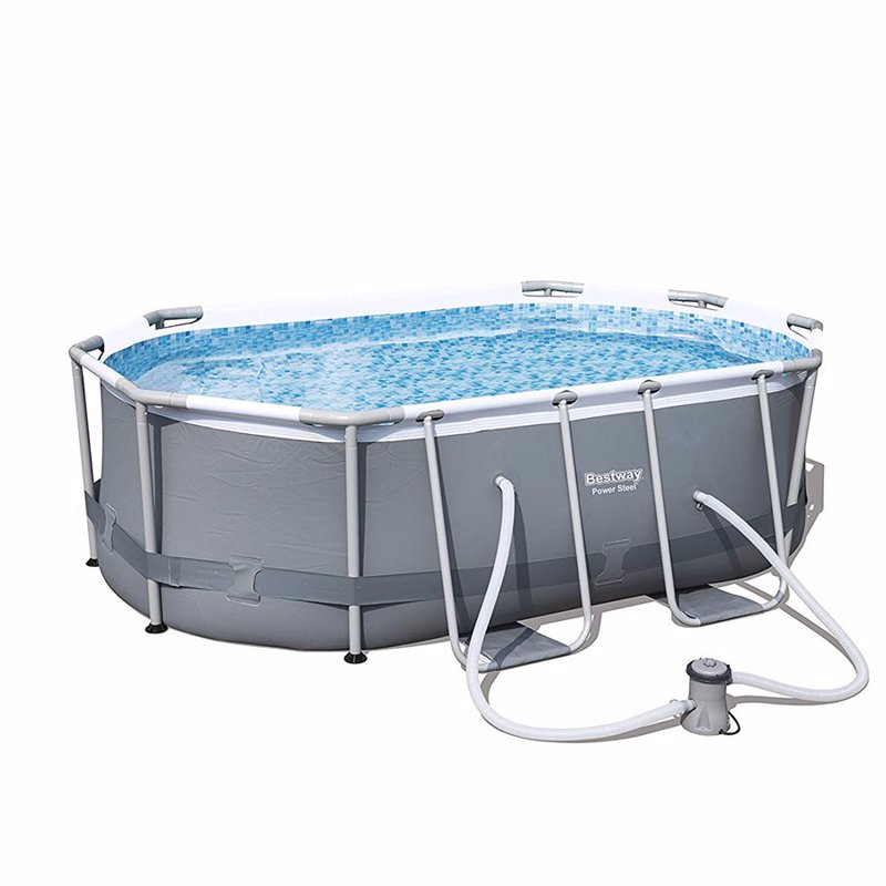 Овальный каркасный бассейн Bestway 56617 Power Steel Frame Pool (300х200х84 см)