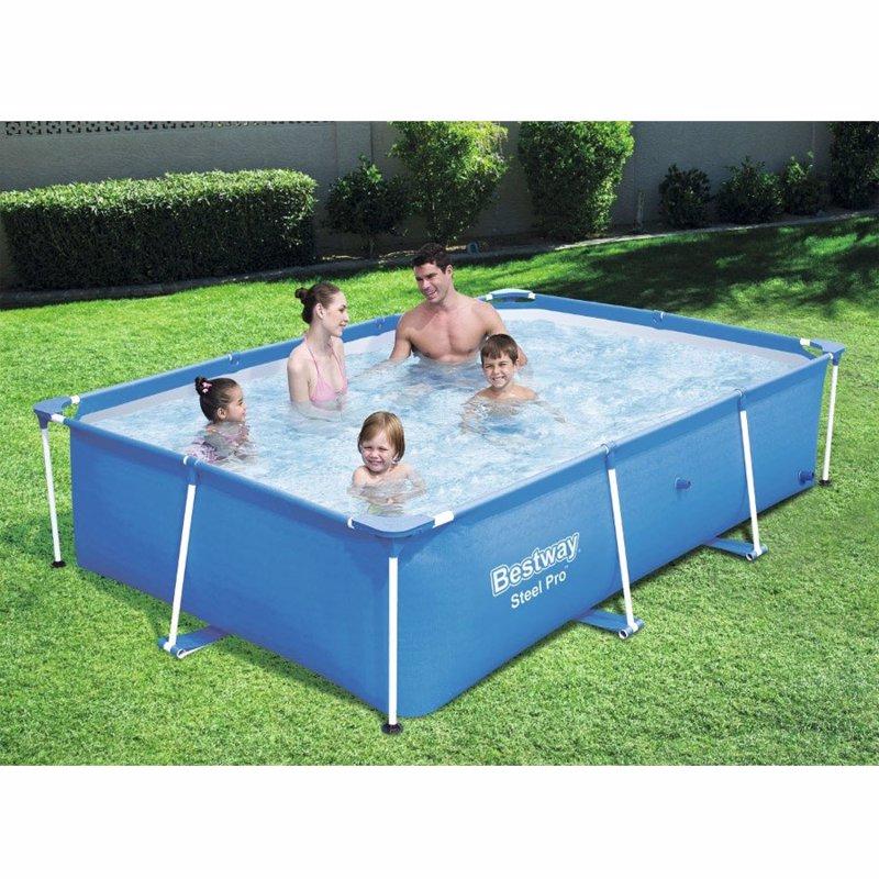 Прямоугольный каркасный бассейн Bestway 56403 Steel Pro Splash Frame Pool (259х170х61 см)