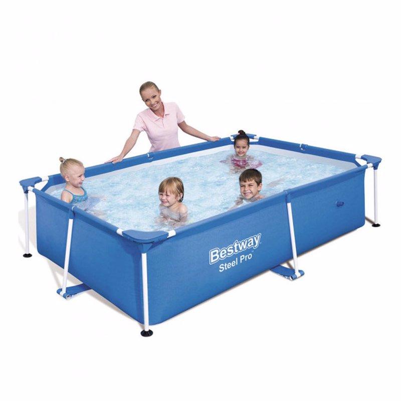 Прямоугольный каркасный бассейн Bestway 56402 Steel Pro Splash Frame Pool (239х150х58 см)