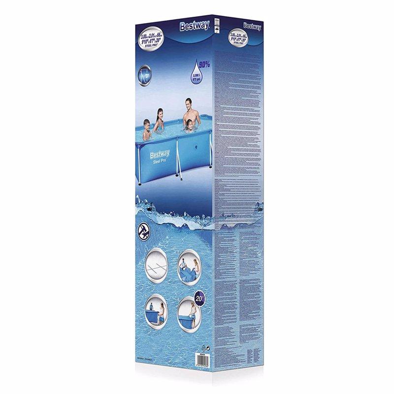 Прямоугольный каркасный бассейн Bestway 56404 Steel Pro Splash Frame Pool (300х201х66 см)