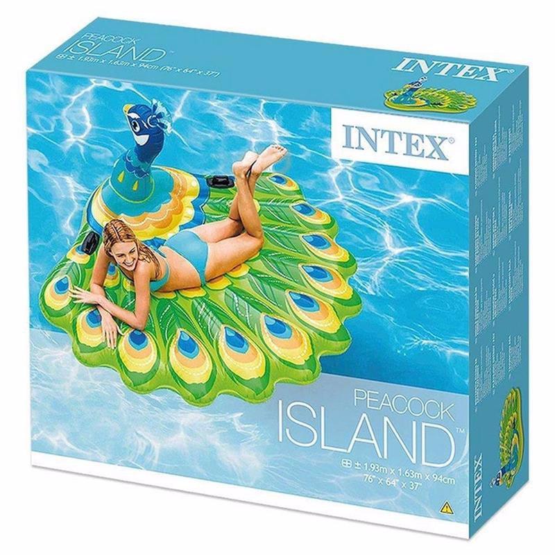 Надувной плот Intex 57250 Павлин (193х163х94 см) Peacock Island