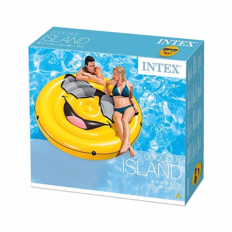 Надувной плот Intex 57254 Крутой парень (173х27 см) Cool Guy Island