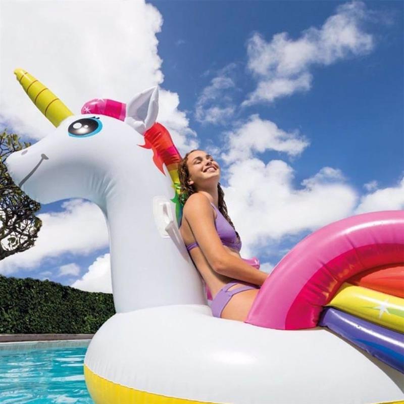 Надувной плот Intex 57281 Мега-остров (287х193х165 см) Единорог Mega Unicorn Island