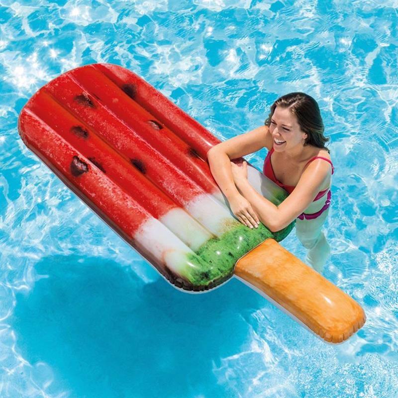Надувной плотик Intex 58751 Арбузное мороженое (191х76 см) Watermelon Popsicle Float