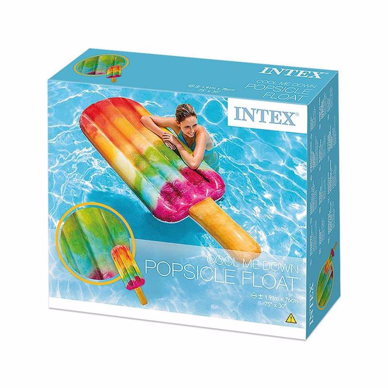 Надувной плотик Intex 58766 Мороженое (191х76 см) Popsicle Float