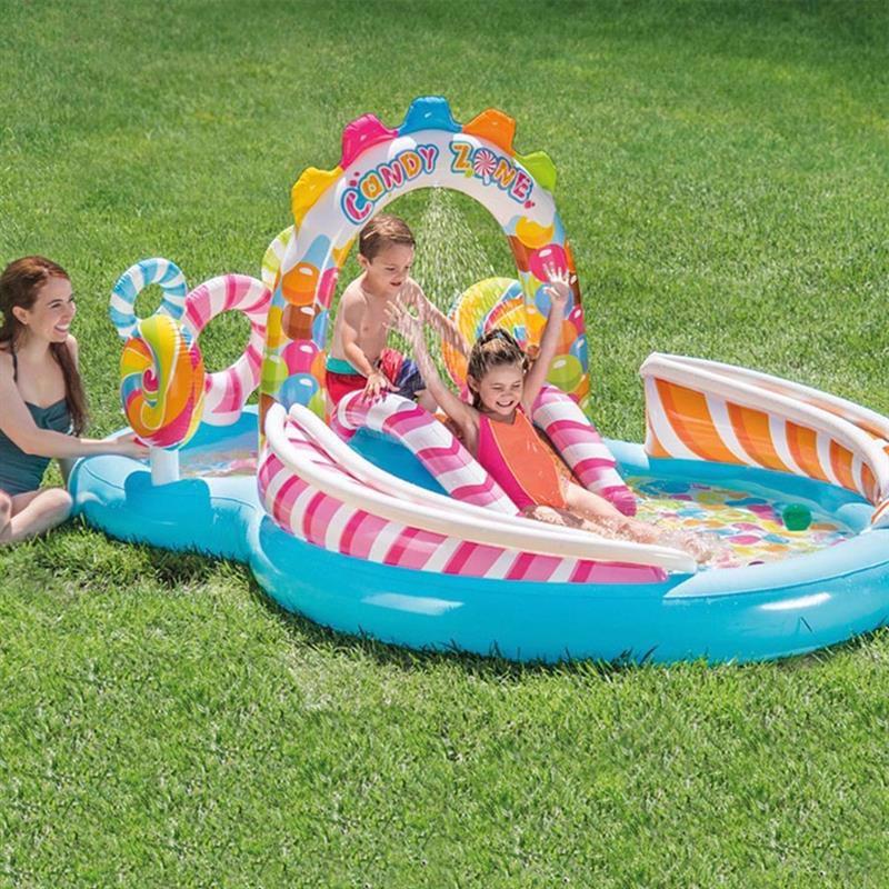 Водный надувной игровой центр Intex 57149 (295 x 191 x 130 см) Карамель