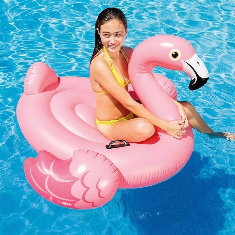 Надувной плотик Intex 57558 Фламинго (142x137x97 см) Flamingo Ride-On