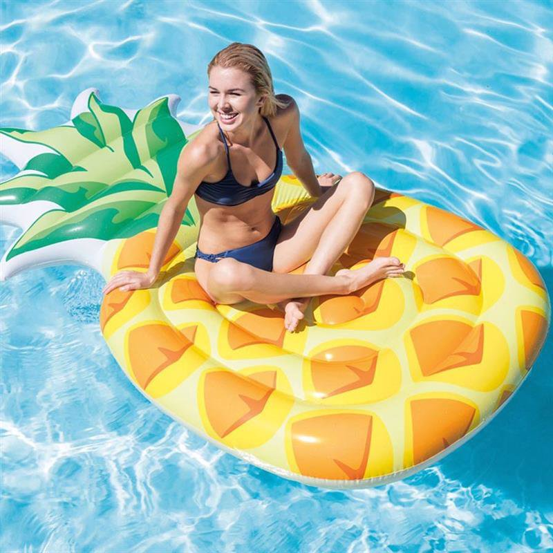 Надувной плотик Intex 58761 Ананас (216x124 см) Pineapple Mat