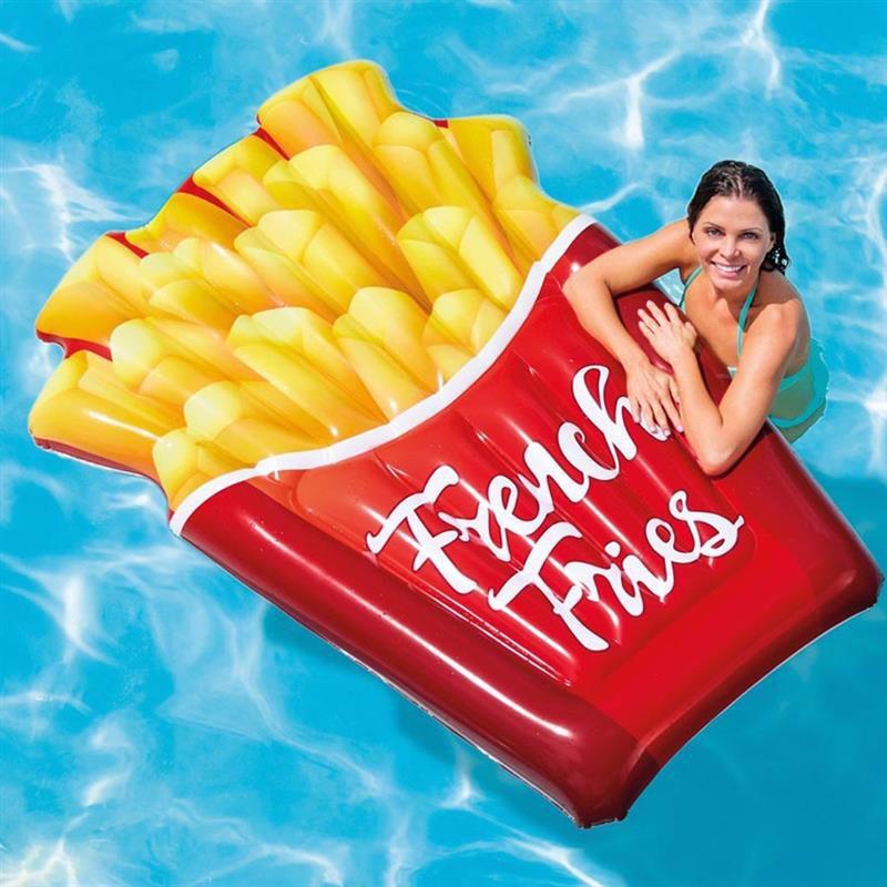 Надувной плотик Intex 58775 Картошка Фри (175x132 см) French Fries Float