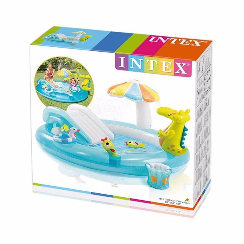 Водный надувной игровой центр Intex 57129 (203 x 173 x 89 см) Аллигатор