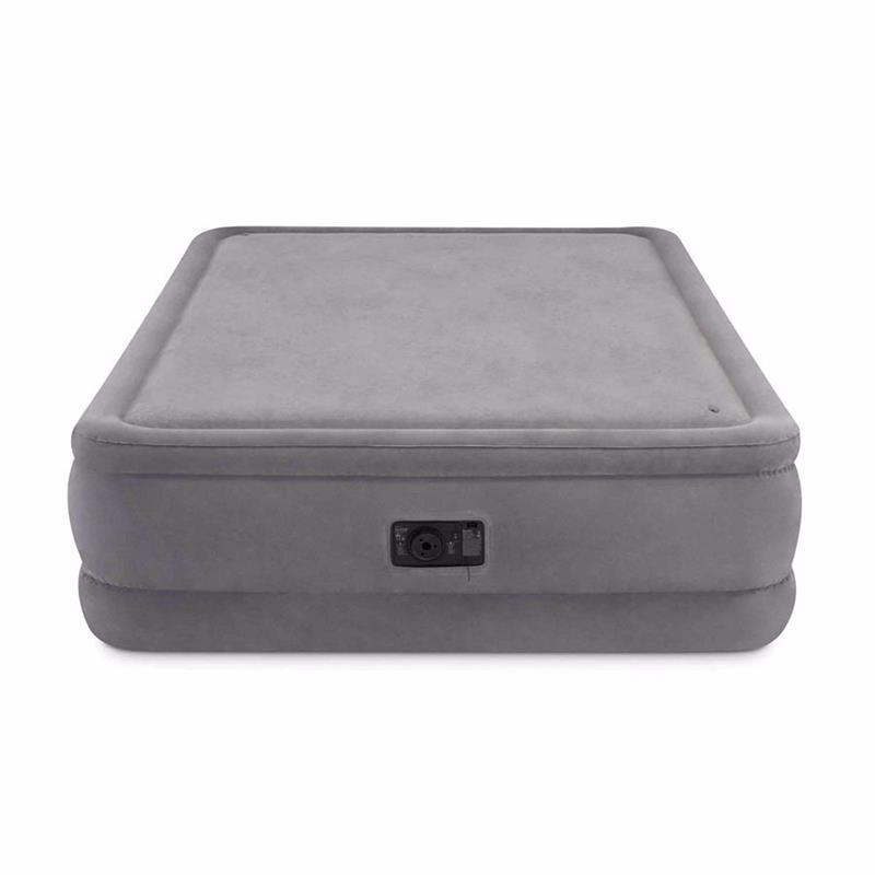 Двуспальная надувная кровать Intex 64470 (152 x 203 x 51 см) Foam Top + Встроенный электронасос 220В